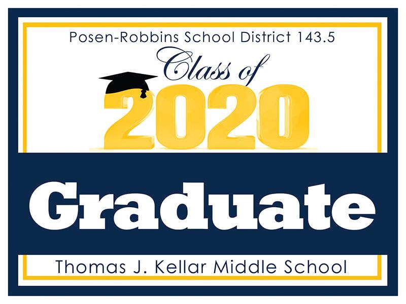 2020 Graduate<br>Coraplas Yard Sign 24 x 18